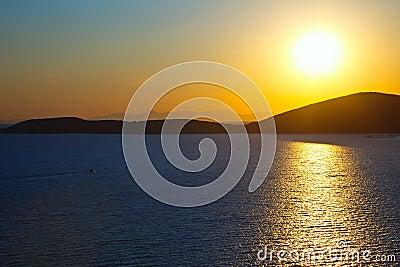 Sunrise over Aegean sea