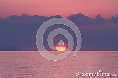 Sunrise over the Andaman ocean