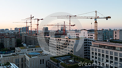 Sunrise over Berlin. Editorial Image