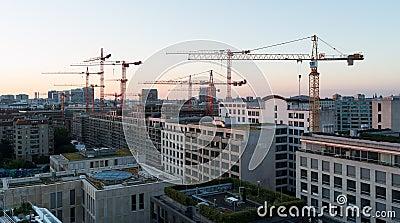 Sunrise over Berlin. Editorial Image