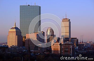 Sunrise over Boston