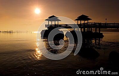 Sunrise OVer Disused Pier