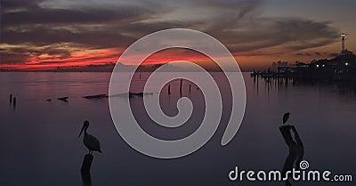 Sunrise Over Galveston Bay