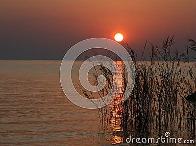 Sunrise over Lake Malawi, Africa