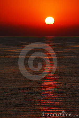 Sunrise over Mediterranean sea