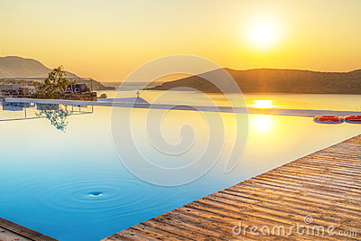 Sunrise over Mirabello Bay on Crete