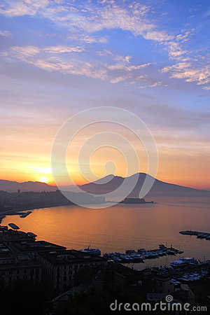Free Sunrise Over Naples, Italy Royalty Free Stock Photography - 49919027