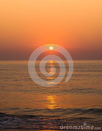 Sunrise over ocean