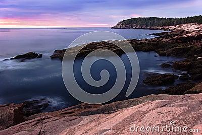 Sunrise Over Otter Cliffs
