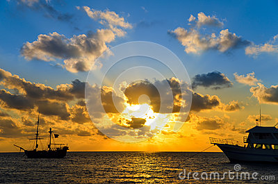 Sunrise over Pirate Ship
