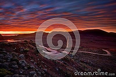 Sunrise over Plaine des Sables