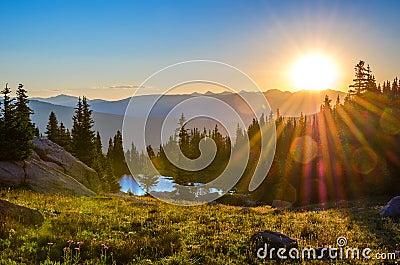 Sunrise over Range
