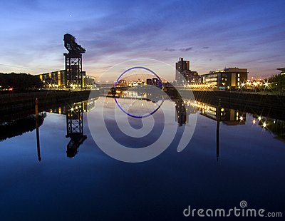 Sunrise over river Clyde