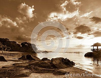 Sunrise over Rocky Beach