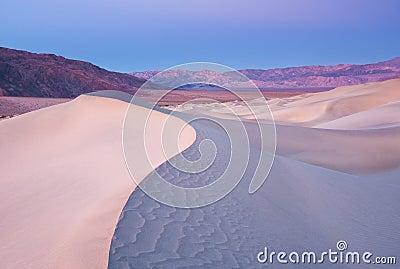 Sunrise over a Sand Dune Ridge