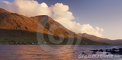 Sunrise over Scottish Loch