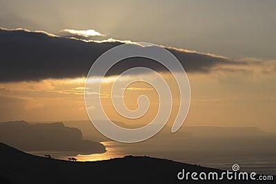 Sunrise over St Aldhelm s Head