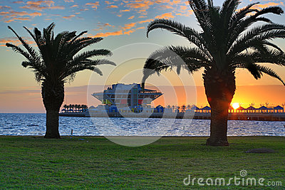 Sunrise Over St. Petersburg Pier (1)
