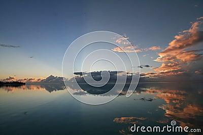 Sunrise over tahiti