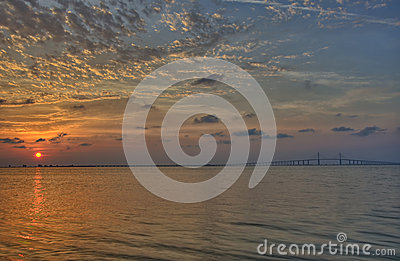 Sunrise over Tampa bay