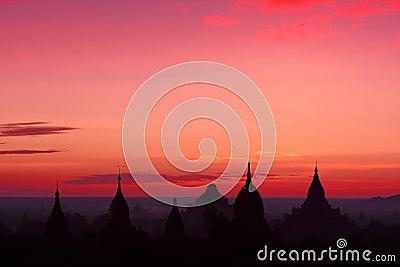 Sunrise Over Temples In Bagan, Myanmar