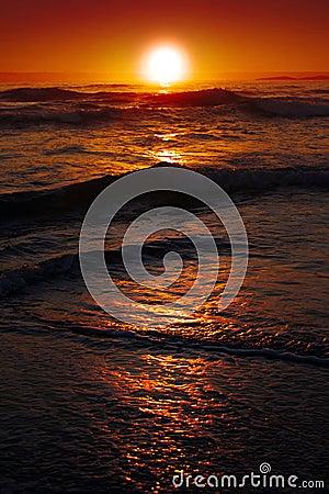 Free Sunrise Over The Ocean Stock Photos - 22759123