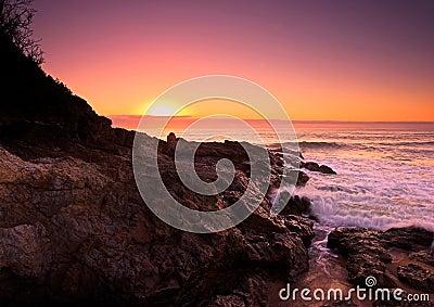 Sunrise on the Pacific Ocean