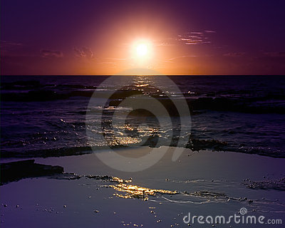 Sunrise on Pacific Ocean