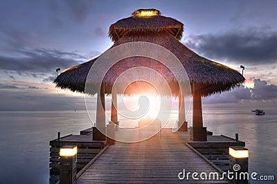 Sunrise in the paradise