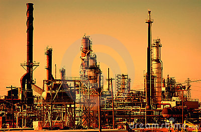 Sunrise at Petroleum Refinery