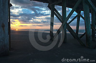 Sunrise Through Pier
