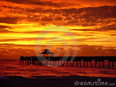 Sunrise with pier