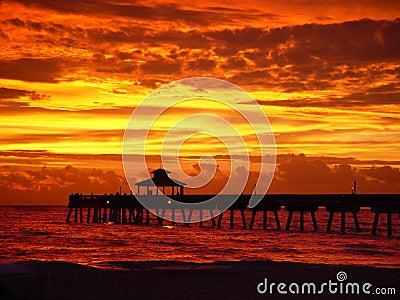 Sunrise with pier