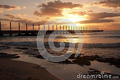 Sunrise at Playa del Carmen, Mexico