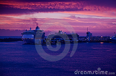 Sunrise in Port Everglades, Florida