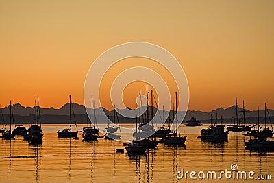 Sunrise in Port Townsend Bay