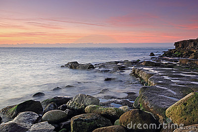 Sunrise on portland in Dorset