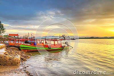 Sunrise at the river in Koh Kho Khao