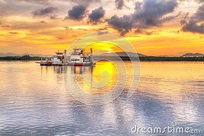 Sunrise at the river at Koh Kho Khao island