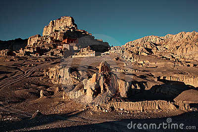 Sunrise in ruins Guge kingdom of Tibet