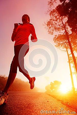 Free Sunrise Running Woman Royalty Free Stock Photography - 25581857