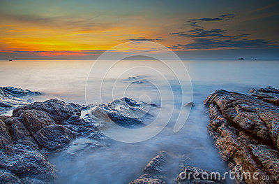 Sunrise at Samed Island, Rayong Province, Eastern of Thailand