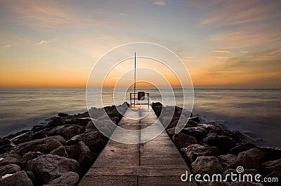 Sunrise at Sandbanks, Dorset, UK