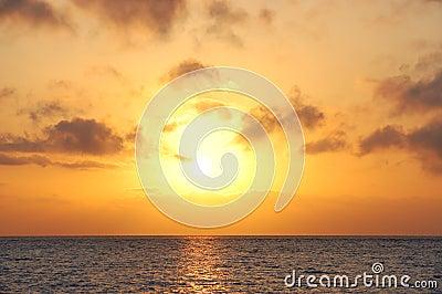 Sunrise in sea