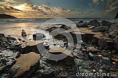 Sunrise by the sea