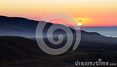 Sunrise on seacoast
