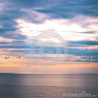 Sunrise sky and ocean