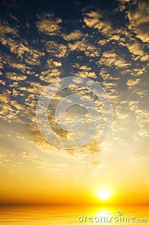 Sunrise sky over the sea