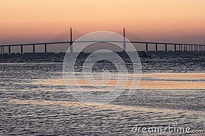 Sunrise at Sunshine Skyway Bridge