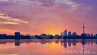 Sunrise in Toronto